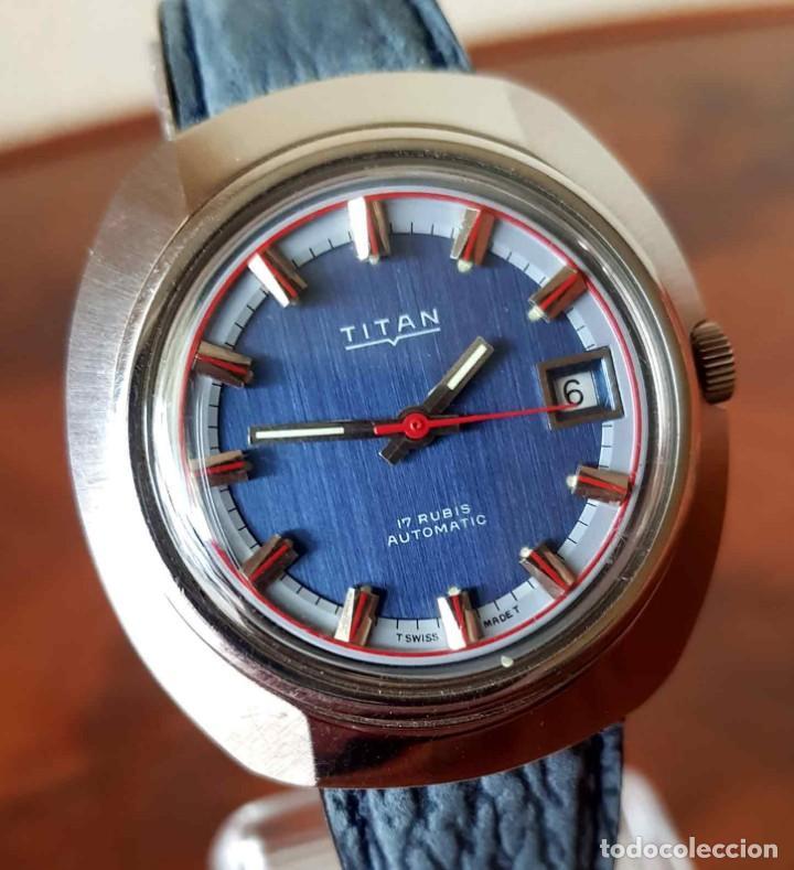 Relojes automáticos: RELOJ TITAN AUTOMATICO, Swiss made, VINTAGE, NOS (new old stock) - Foto 2 - 195166721