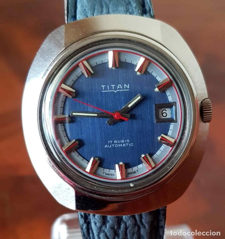 Relojes automáticos: RELOJ TITAN AUTOMATICO, Swiss made, VINTAGE, NOS (new old stock) - Foto 3 - 195166721