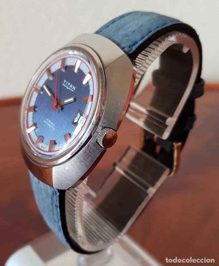 Relojes automáticos: RELOJ TITAN AUTOMATICO, Swiss made, VINTAGE, NOS (new old stock) - Foto 4 - 195166721
