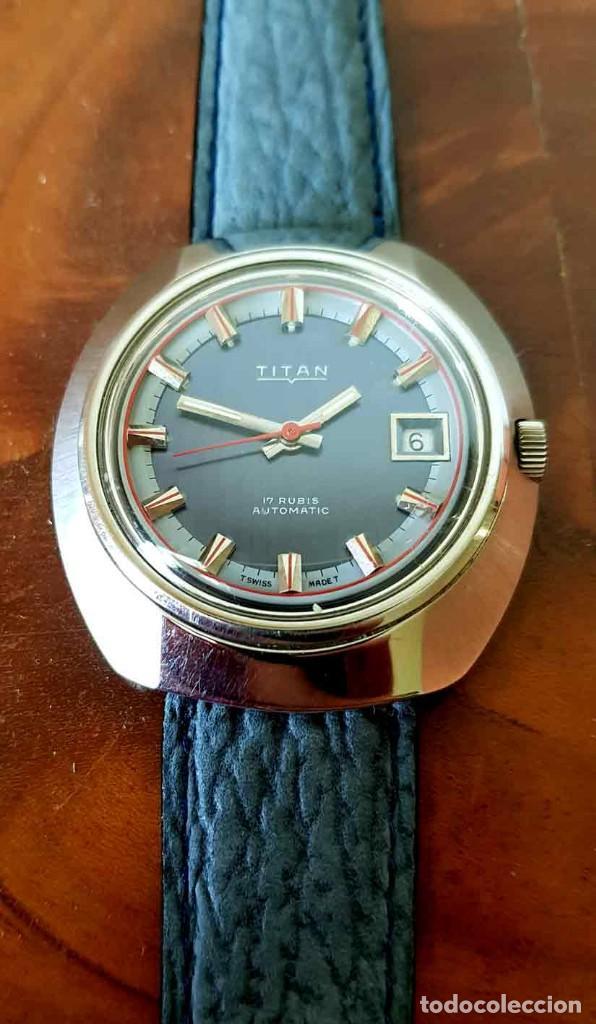 Relojes automáticos: RELOJ TITAN AUTOMATICO, Swiss made, VINTAGE, NOS (new old stock) - Foto 7 - 195166721
