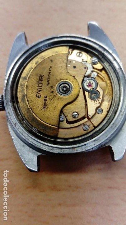 Relojes automáticos: Reloj Enicar automático - Foto 5 - 195215123