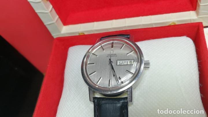 Relojes automáticos: RELOJ OMEGA AUTOMÁTICO DOBLE DATE, CAL-1020 DEL AÑO 1978, DE 17 JOYAS, INCABLOC - Foto 9 - 195235830