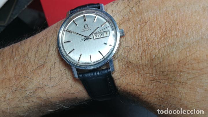 Relojes automáticos: RELOJ OMEGA AUTOMÁTICO DOBLE DATE, CAL-1020 DEL AÑO 1978, DE 17 JOYAS, INCABLOC - Foto 34 - 195235830