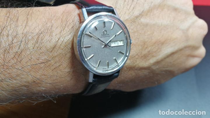 Relojes automáticos: RELOJ OMEGA AUTOMÁTICO DOBLE DATE, CAL-1020 DEL AÑO 1978, DE 17 JOYAS, INCABLOC - Foto 36 - 195235830