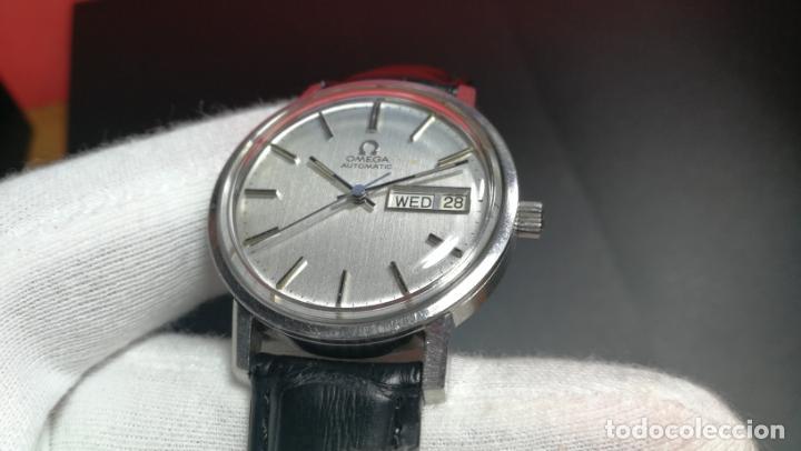 Relojes automáticos: RELOJ OMEGA AUTOMÁTICO DOBLE DATE, CAL-1020 DEL AÑO 1978, DE 17 JOYAS, INCABLOC - Foto 40 - 195235830