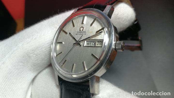 Relojes automáticos: RELOJ OMEGA AUTOMÁTICO DOBLE DATE, CAL-1020 DEL AÑO 1978, DE 17 JOYAS, INCABLOC - Foto 43 - 195235830