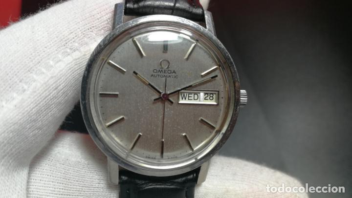 Relojes automáticos: RELOJ OMEGA AUTOMÁTICO DOBLE DATE, CAL-1020 DEL AÑO 1978, DE 17 JOYAS, INCABLOC - Foto 46 - 195235830