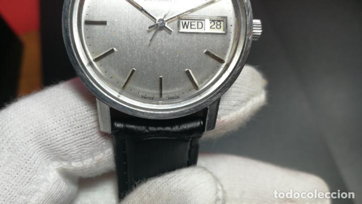 Relojes automáticos: RELOJ OMEGA AUTOMÁTICO DOBLE DATE, CAL-1020 DEL AÑO 1978, DE 17 JOYAS, INCABLOC - Foto 47 - 195235830
