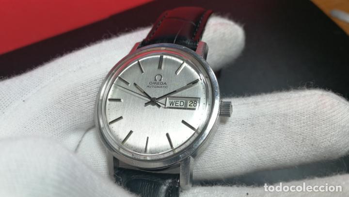 Relojes automáticos: RELOJ OMEGA AUTOMÁTICO DOBLE DATE, CAL-1020 DEL AÑO 1978, DE 17 JOYAS, INCABLOC - Foto 51 - 195235830