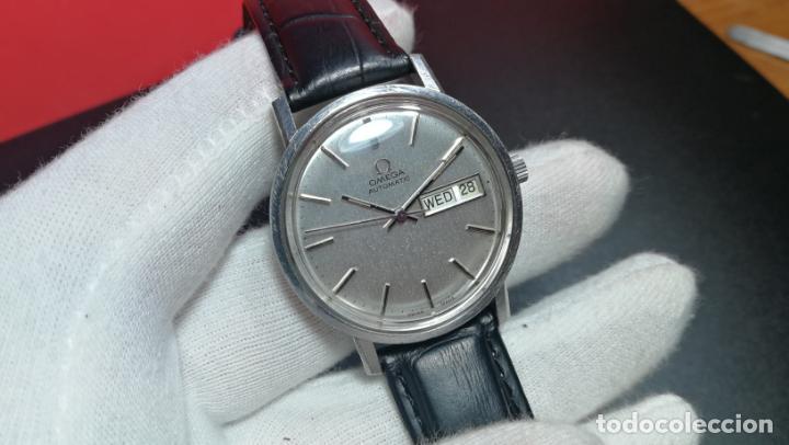 Relojes automáticos: RELOJ OMEGA AUTOMÁTICO DOBLE DATE, CAL-1020 DEL AÑO 1978, DE 17 JOYAS, INCABLOC - Foto 52 - 195235830