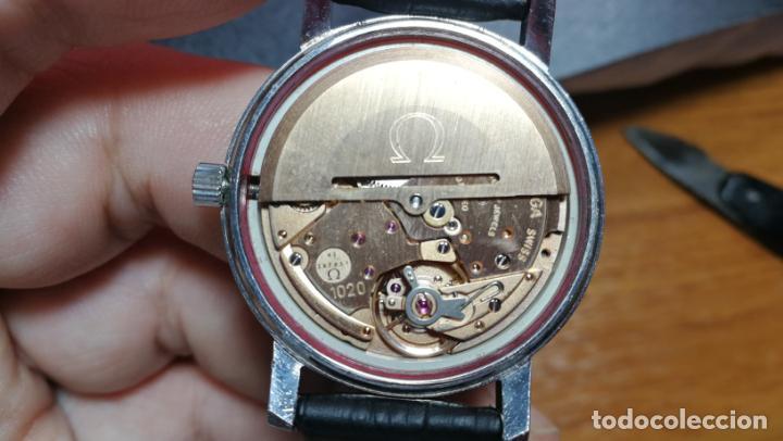 Relojes automáticos: RELOJ OMEGA AUTOMÁTICO DOBLE DATE, CAL-1020 DEL AÑO 1978, DE 17 JOYAS, INCABLOC - Foto 60 - 195235830