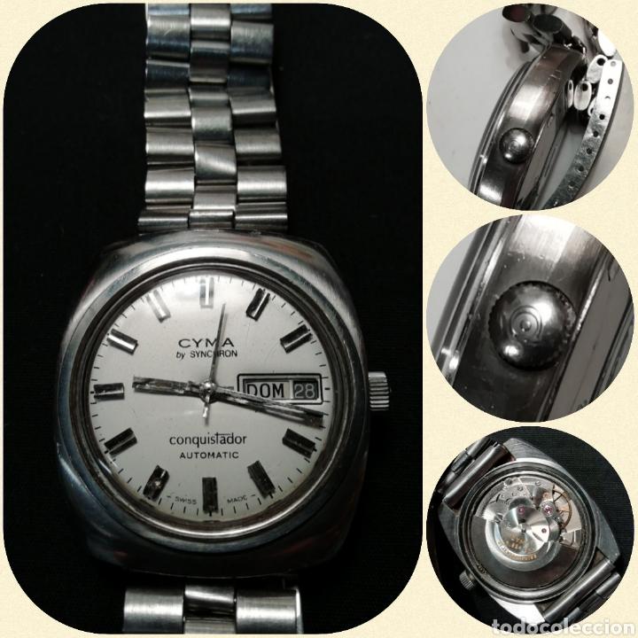 Relojes automáticos: Reloj pulsera CYMA by SYNCHRON, Conquistador, AUTOMÁTICO. - Foto 5 - 195277876