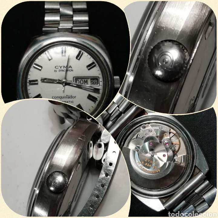 Relojes automáticos: Reloj pulsera CYMA by SYNCHRON, Conquistador, AUTOMÁTICO. - Foto 7 - 195277876