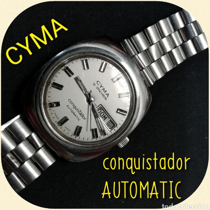 RELOJ PULSERA CYMA BY SYNCHRON, CONQUISTADOR, AUTOMÁTICO. (Relojes - Relojes Automáticos)