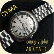 Relojes automáticos: RELOJ PULSERA CYMA BY SYNCHRON, CONQUISTADOR, AUTOMÁTICO.. Lote 195277876