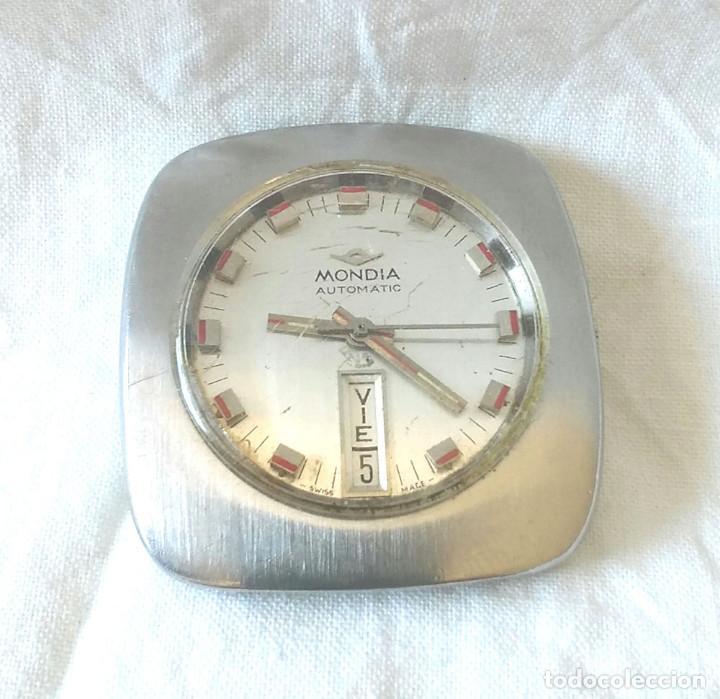 RELOJ MONDIA AUTOMÁTICO FUNCIONA AÑOS 60, CALENDARIO Y DIA DE LA SEMANA A LAS 6, VINTAGE. MED. 35 MM (Relojes - Relojes Automáticos)