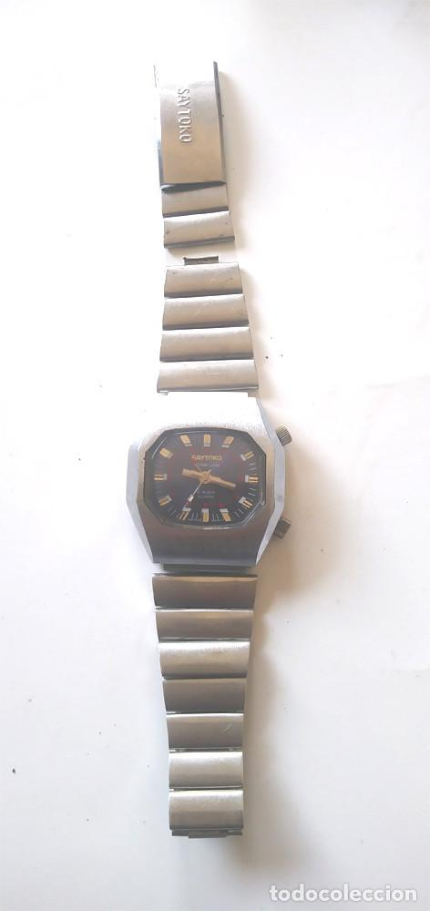 Relojes automáticos: Saytoko Suizo reloj pulsera con alarma, años 60 funciona. Med 40 mm sin contar corona - Foto 2 - 195359966