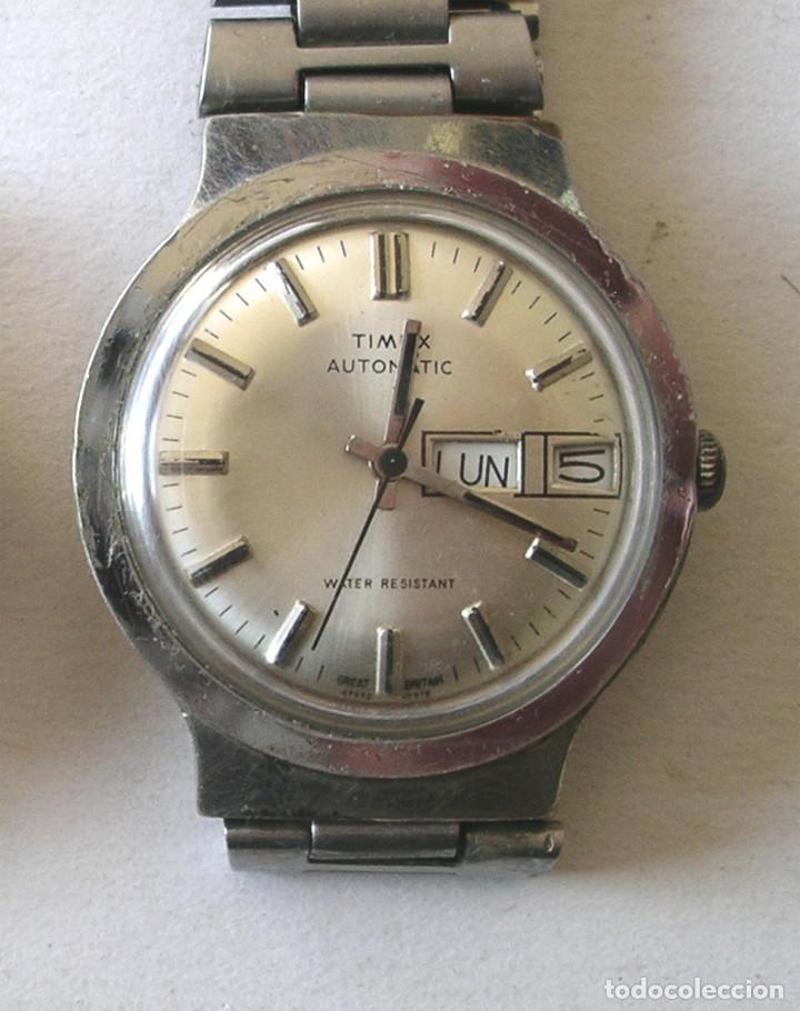 RELOJ PULSERA CABALLERO TIMEX, AUTOMÁTICO CON CALENDARIO, FUNCIONA. MED. 3,6 CM (Relojes - Relojes Automáticos)