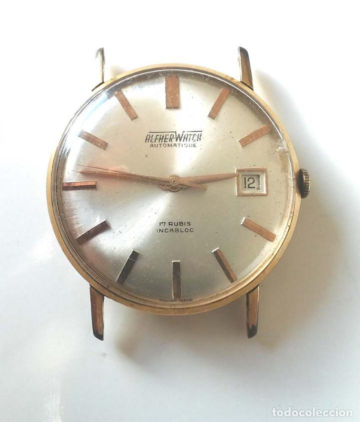 ALFHER WATCH AUTOMÁTICO CALENDARIO, MAQUINARIA SUIZA, FUNCIONA. MED. 35 MM (Relojes - Relojes Automáticos)