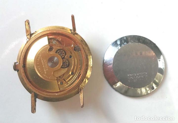 Relojes automáticos: Alfher Watch automático calendario, maquinaria Suiza, funciona. Med. 35 mm - Foto 2 - 195360707