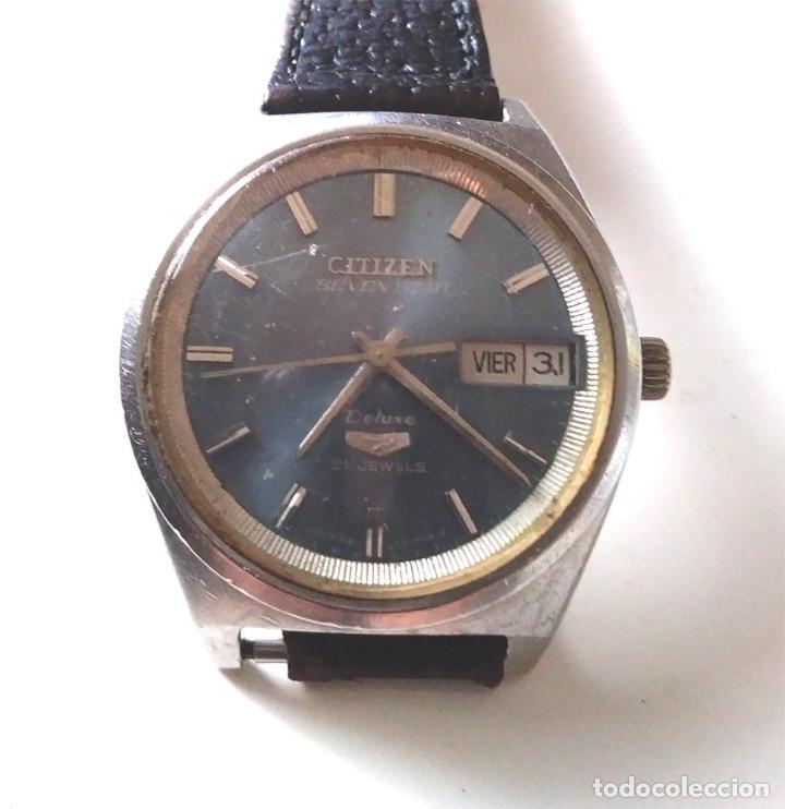 CITIZEN SEVEN STAR DE LUXE, AUTOMÁTICO, CALENDARIO Y DIA DE LA SEMANA, FUNCIONA (Relojes - Relojes Automáticos)
