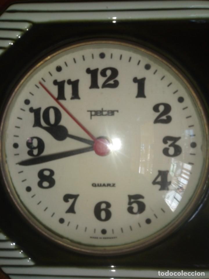 Relojes automáticos: Antiguo reloj de Cocina Con cronometro Marca PETER De porcelana Fabricación alemana - Foto 2 - 195380985