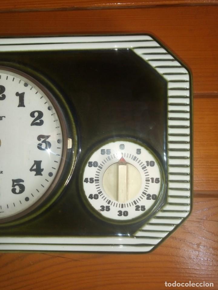 Relojes automáticos: Antiguo reloj de Cocina Con cronometro Marca PETER De porcelana Fabricación alemana - Foto 3 - 195380985