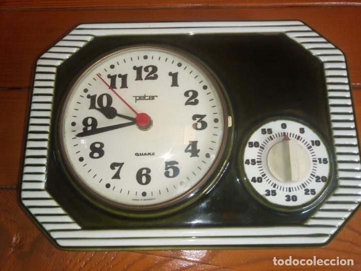 Relojes automáticos: Antiguo reloj de Cocina Con cronometro Marca PETER De porcelana Fabricación alemana - Foto 5 - 195380985