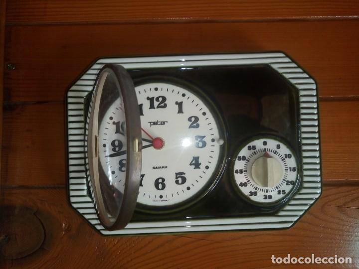 Relojes automáticos: Antiguo reloj de Cocina Con cronometro Marca PETER De porcelana Fabricación alemana - Foto 6 - 195380985