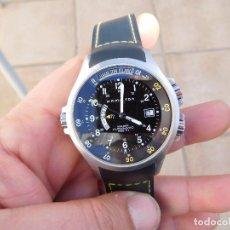 Relojes automáticos: RELOJ AUTOMÁTICO GMT DE LA MARCA HAMILTON KHAKI. Lote 195460228