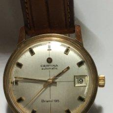 Relojes automáticos: RELOJ CERTINA AUTOMÁTICO BRISTOL 195 CAJA CHAPADA MAQUINARIA 25-651 COMO NUEVO AÑOS 70. Lote 195488787