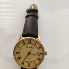 Relojes automáticos: RELOJ RUSO SLAVA URSS- ORO CHAPADO AU10 , 21 RUBÍES-AUTOMATICO. Lote 195502105