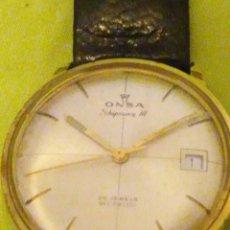 Relojes automáticos: ANTIGUO RELOJ AUTOMÁTICO ONSA SHIPMAN III 25 JAWELS INCABLOC SWISSE MADE,PLAQUÉ 620.AÑOS 60. Lote 196006392