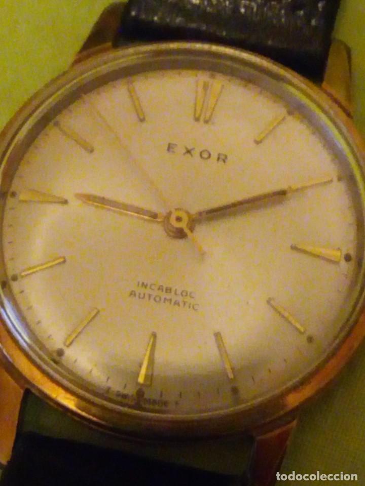 Relojes automáticos: reloj exor automatic incabloc swisse made 8 REXOR)AÑOS 50/60 - Foto 2 - 196123350