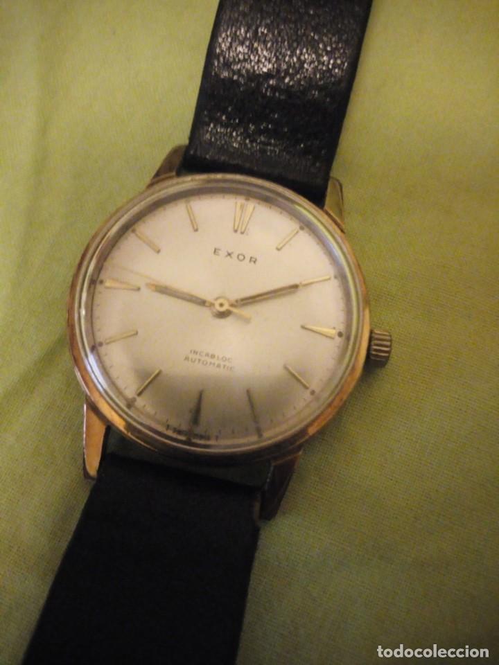 Relojes automáticos: reloj exor automatic incabloc swisse made 8 REXOR)AÑOS 50/60 - Foto 4 - 196123350