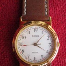 Relojes automáticos: RELOJ DE PULSERA RACER - FUNCIONANDO - CORREA DE PIEL GENUINA - SIN ESTRENAR -. Lote 196151942