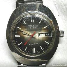 Relojes automáticos: OSAKI RELOJ AUTOMÁTICO, CALENDARIO Y DIA SEMANA, FUNCIONA. MED. 38 MM SIN CONTAR CORONA. Lote 197378498