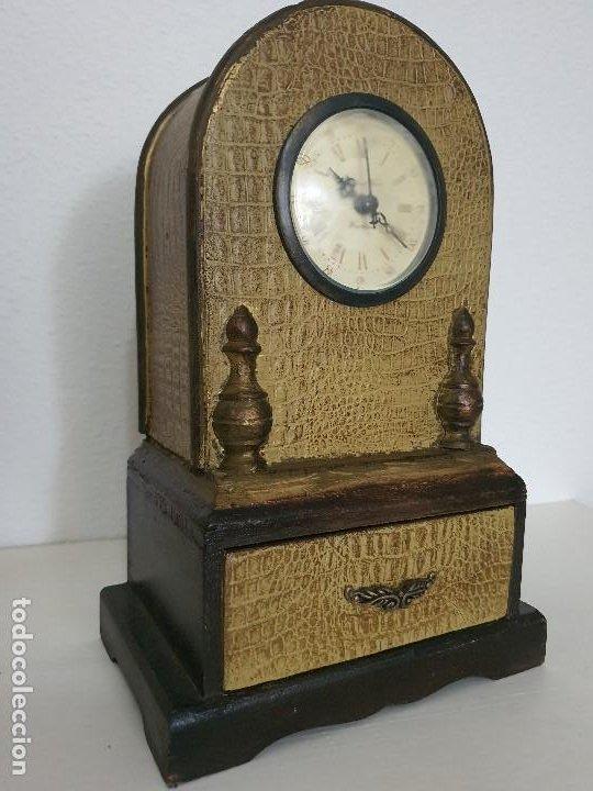 RELOJ MADERA CON CAJON (Relojes - Relojes Automáticos)