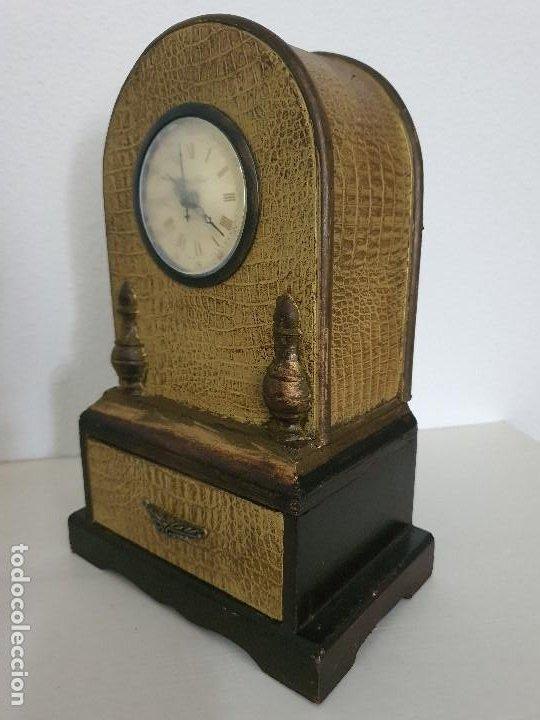 Relojes automáticos: RELOJ MADERA CON CAJON - Foto 2 - 197720505