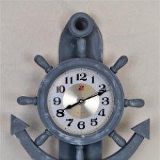 Relojes automáticos: RELOJ DE PARED EN MADERA CON PÉNDULO NÁUTICO. Lote 198465452