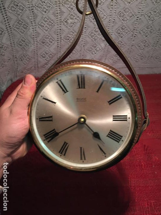 Relojes automáticos: Antiguo reloj de pared marca Silvoz èlectronique años 70-80 de piél - Foto 4 - 198646327