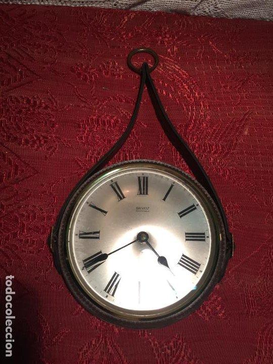 ANTIGUO RELOJ DE PARED MARCA SILVOZ ÈLECTRONIQUE AÑOS 70-80 DE PIÉL (Relojes - Relojes Automáticos)