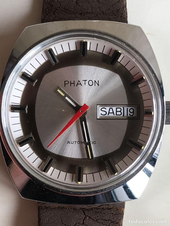RELOJ AUTOMATICO DE PULSERA PHATON DE ACERO INOXIDABLE STAINLESS STEEL ANTIMAGNETICO SIN USO (Relojes - Relojes Automáticos)