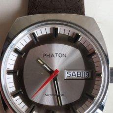Relojes automáticos: RELOJ AUTOMATICO DE PULSERA PHATON DE ACERO INOXIDABLE STAINLESS STEEL ANTIMAGNETICO SIN USO. Lote 53145847