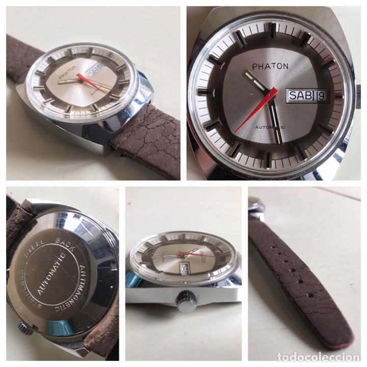 Relojes automáticos: RELOJ AUTOMATICO DE PULSERA PHATON DE ACERO INOXIDABLE STAINLESS STEEL ANTIMAGNETICO SIN USO - Foto 7 - 53145847