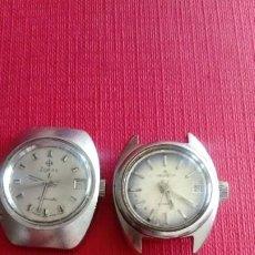 Relojes automáticos: DOS RELOJES AUTOMÁTICOS DE MUJER UN ZODIAC Y UN HELVETIA. Lote 199501780