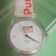 Relojes automáticos: RELOJ COLECCION TIPO SWATCH SUNRISE 2006 EN CAJA. A ESTRENAR. NUMERACIÓN EN CATALÀ. Lote 201295667