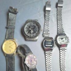 Relojes automáticos: LOTE 5,VIEJOS RELOJES DE MUÑECA,REDESA,SELTRON, MACARTHY,ENTRE OTROS,IDEAL RESTAURADORES. Lote 201346380