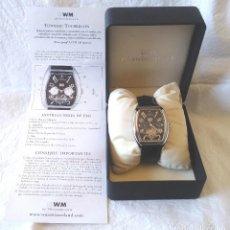 Relojes automáticos: WM TOURBILLON AUTOMATICO 35 RUBIS, CAJA ACERO CRISTAL ZAFIRO, CALENDARIO, FUNCIONA. Lote 202407733