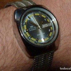 Relojes automáticos: PRECIOSO RELOJ ORFINA KONIZ GOLDEN FLAME CALIBRE ETA 2789 SWISS 25 RUBIS AÑOS 70 MILANESA CABALLERO. Lote 202574422